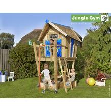 jungle gym Spielhaus Crazy Playhouse CXL mit roter Feuerwehr-Rutschstange