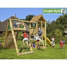 jungle gym Spielturm Club Klettergerüst mit langer Wavy Star Rutsche mit Wasseranschluss gelb