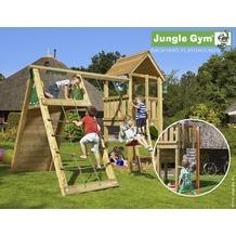 jungle gym Spielturm Club Klettergerüst mit roter Feuerwehr-Rutschstange