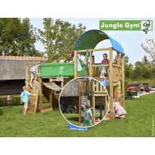 jungle gym Spielturm Farm Hängebrücke mit roter Feuerwehr-Rutschstange