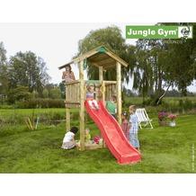 jungle gym Spielturm Jungle Casa mit kurzer Wavy Star Rutsche mit Wasseranschluss gelb
