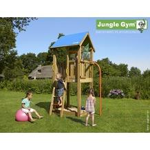 jungle gym Spielturm Jungle Castle mit roter Feuerwehr-Rutschstange