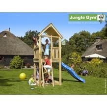 jungle gym Spielturm Jungle Club mit kurzer Wavy Star Rutsche mit Wasseranschluss gelb