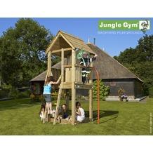 jungle gym Spielturm Jungle Club mit roter Feuerwehr-Rutschstange