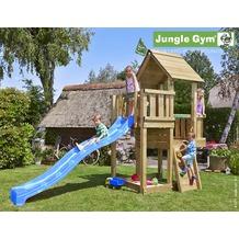 jungle gym Spielturm Jungle Cubby mit langer Wavy Star Rutsche mit Wasseranschluss gelb