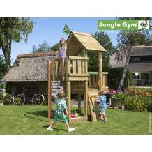 jungle gym Spielturm Jungle Cubby mit roter Feuerwehr-Rutschstange