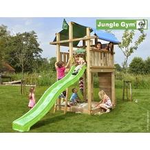 jungle gym Spielturm Jungle Fort mit langer Wavy Star Rutsche mit Wasseranschluss gelb