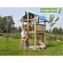 jungle gym Spielturm Jungle Fort mit roter Feuerwehr-Rutschstange
