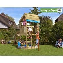 jungle gym Spielturm Jungle Home mit roter Feuerwehr-Rutschstange