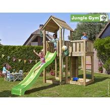 jungle gym Spielturm Jungle Mansion mit langer Wavy Star Rutsche mit Wasseranschluss gelb