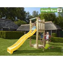 jungle gym Spielturm Jungle Tower mit kurzer Wavy Star Rutsche mit Wasseranschluss gelb
