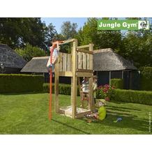 jungle gym Spielturm Jungle Tower mit roter Feuerwehr-Rutschstange 1650x800x2100