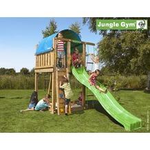 jungle gym Spielturm Jungle Villa mit langer Wavy Star Rutsche mit Wasseranschluss gelb
