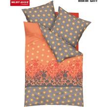 kaeppel Satin-Bettwäsche, MUST HAVE, Spirit, mandarine 135/200 cm