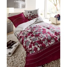 """kaeppel Satin-Bettwäsche """"Sweet Home"""" Revival, burgund 135/200 cm"""
