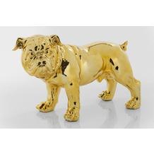 Kare Design Deko Figur Bulldogge Gold Eco 42cm