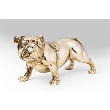 Kare Design Deko Figur Bulldogge Rosegold 22cm