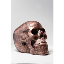 Kare Design Deko Kopf Skull Copper Antique