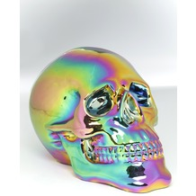 Kare Design Deko Kopf Skull Rainbow