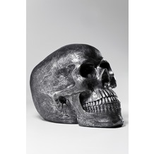 Kare Design Deko Kopf Skull Silver Antique