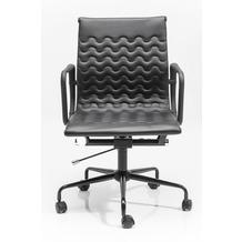 Kare Design Bürodrehsstuhl Wave Schwarz