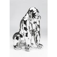 Kare Design Deko Figur Gorilla Chrome
