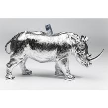 Kare Design Spardose Rhino Chrome