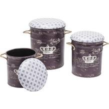 Kare Design Hocker Storage Royal (3/Set)