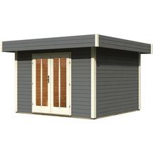 karibu gartenhaus in der farbe grau bei hertie kaufen. Black Bedroom Furniture Sets. Home Design Ideas