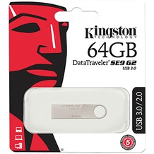 Kingston Data Traveler - 64GB - USB 3.0 - Metall