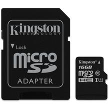 Kingston microSDHC Card Class 10 UHS-1 mit SD Adapter, 16GB