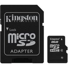 Kingston microSDHC Speicherkarte, Class4, 8GB