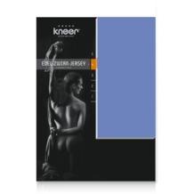 Kneer Edel-Zwirn-Jersey Spannbetttuch, blau, 90/190 - 100/200 cm