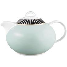 Königlich Tettau Teekanne 6 Personen Jade Swing Blau 04076