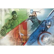 Komar Papier Fototapete Avengers Graphic Art