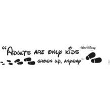 Komar Deco-Sticker Adults are only kids 70 x 14 cm