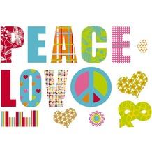 Komar Decosticker Love and Peace 100 x 70 cm