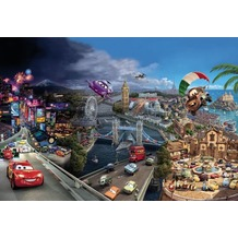 Komar Fototapete Disney Cars World 368 x 254 cm