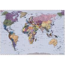 Komar Fototapete World Map 270 x 188 cm