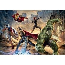 Komar Fototapete Marvel Avengers Street Rage 368 x 254 cm