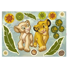 Komar Wandtattoo Simba and Nala