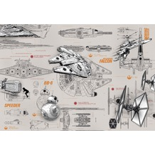 Komar Fototapete STAR WARS Blueprints