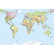 Komar Vlies Fototapete World Map 248 x 368 cm