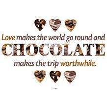Komar Wandsticker Chocolate 50 x 70 cm