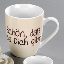 la vida Kaffeebecher 0,25l Schön, dass es dich gibt