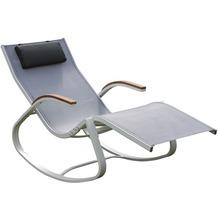 Leco Design-Schaukelstuhl schwarz-weiß