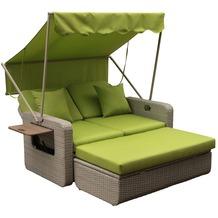 Leco Wohlfühl-Rattan-2-Sitzer grün