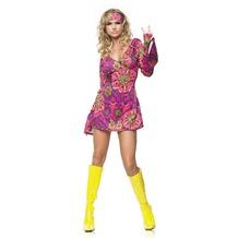 Leg Avenue 2Pc. Retro Go Go Dress Costume Set With Dress With Head Band multicolor 38-40