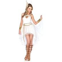 Leg Avenue 3Pc. Costume Set Goddess Hermes, Includes Dress, Wrist Cuffs And Head Piece white 38-40