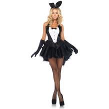 Leg Avenue 3Pc. Tuxedo Top, Tutu Skirt With Tail And Ear Headband black/white 38-40